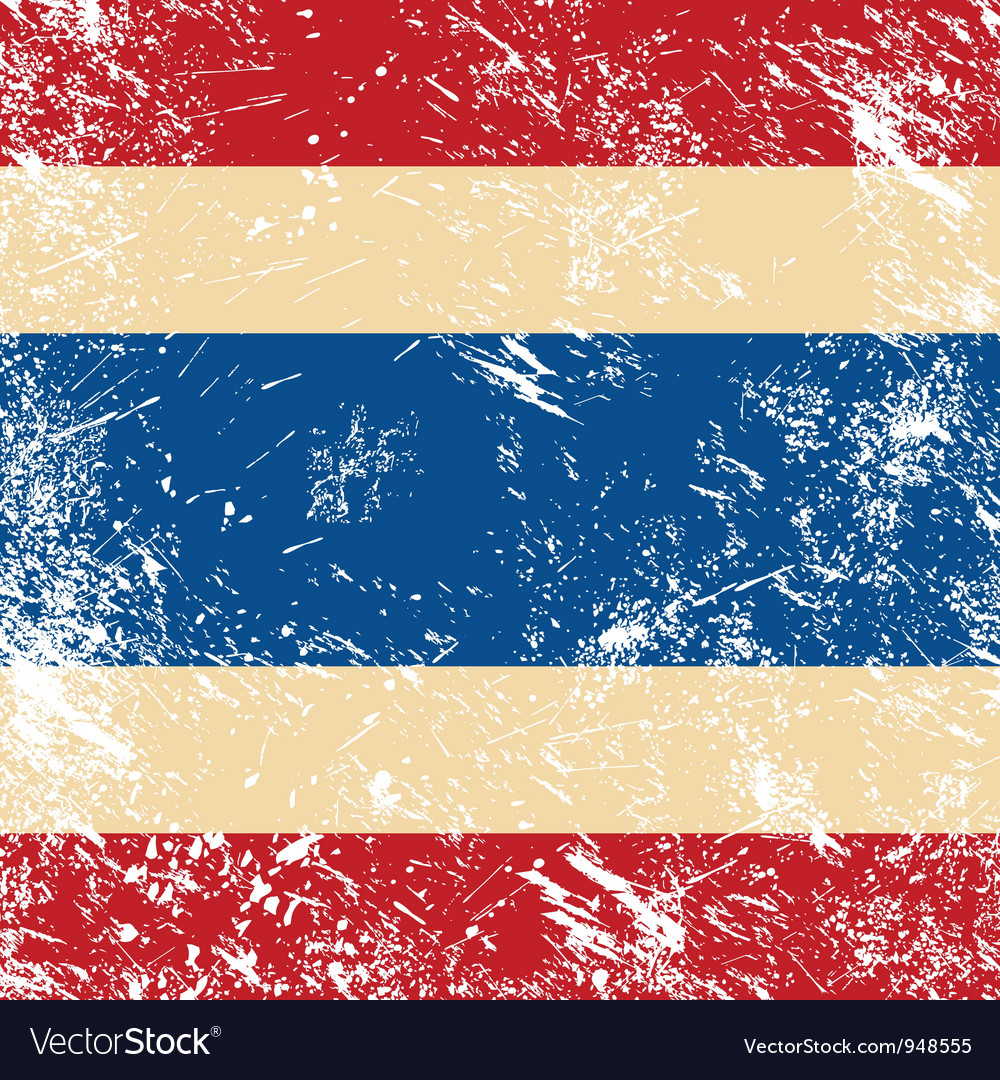Thailand retro flag vector | Price: 1 Credit (USD $1)