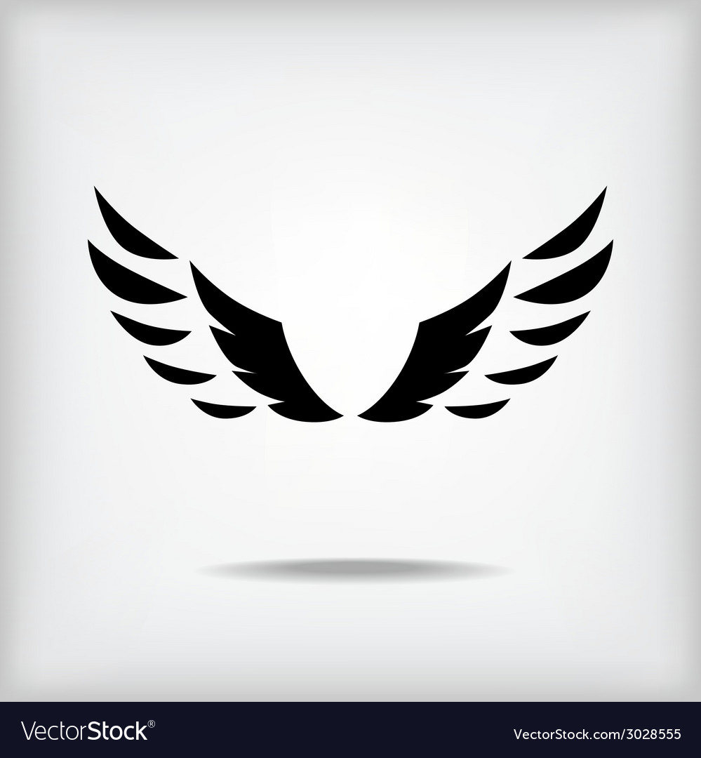 Wing silhouette vector | Price: 1 Credit (USD $1)