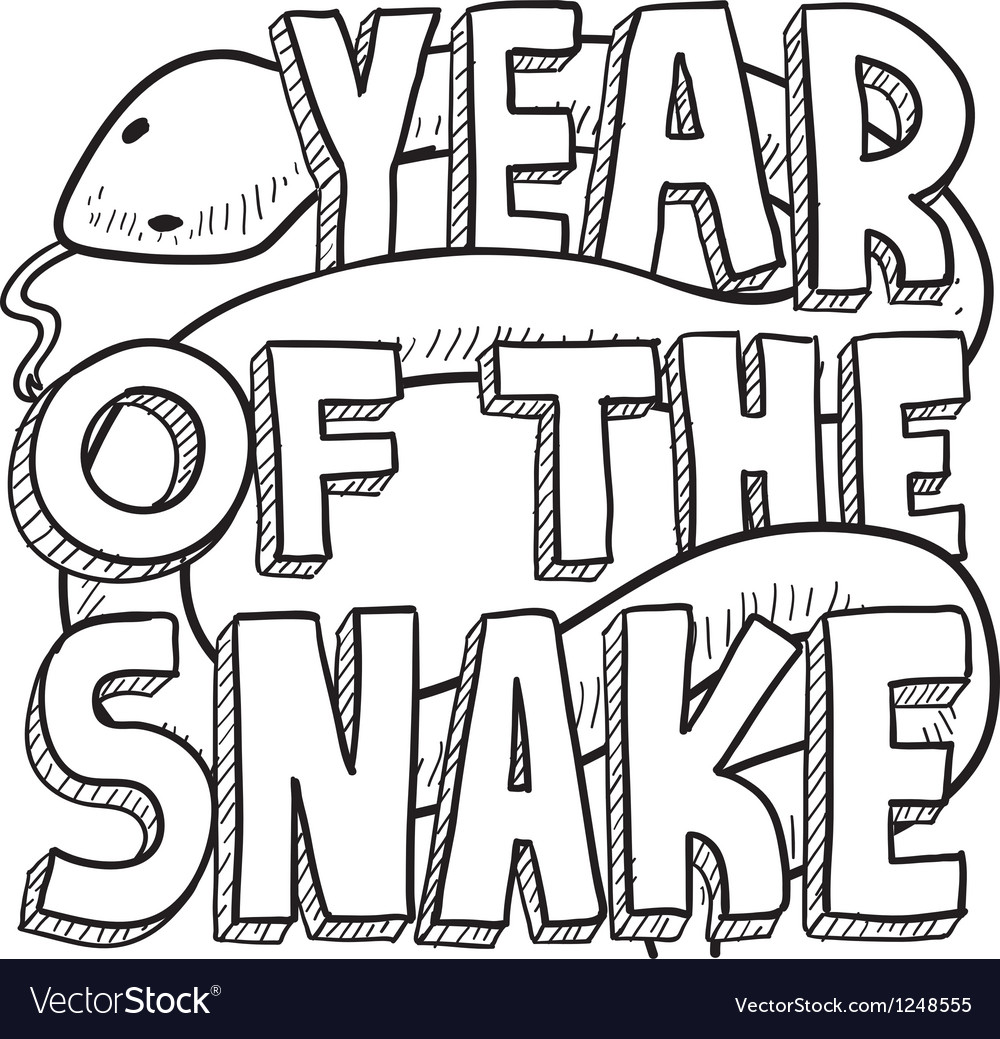 Year of the snake vector | Price: 1 Credit (USD $1)