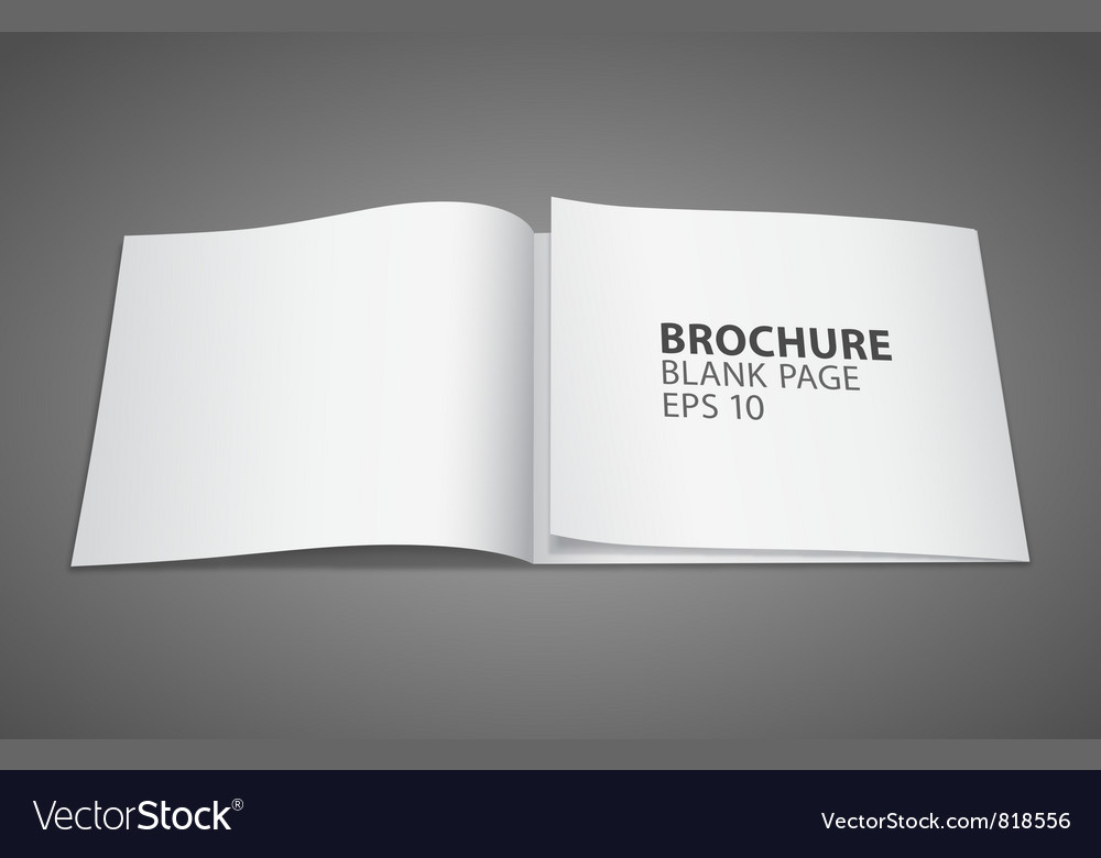 Brochure blank page vector | Price: 1 Credit (USD $1)