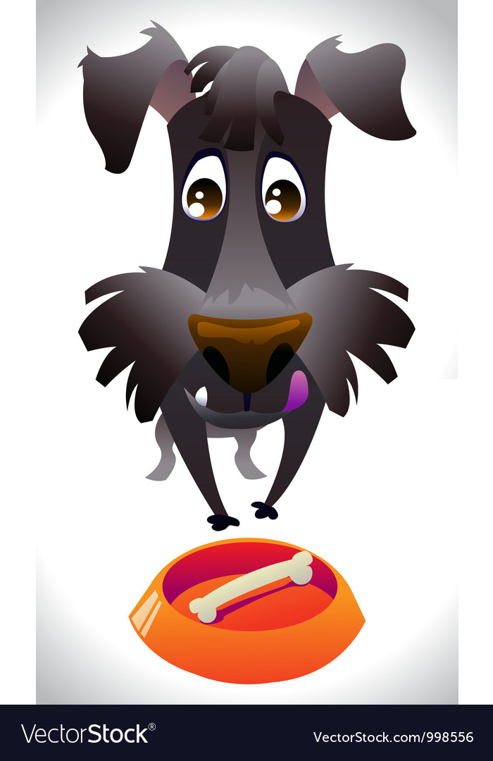 Cartoon dog ready for eat vector | Price: 1 Credit (USD $1)