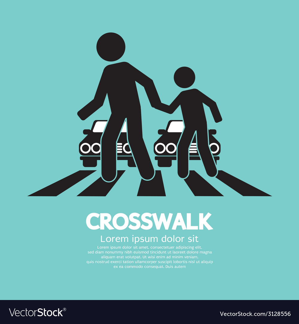 Crosswalk graphic sign vector | Price: 1 Credit (USD $1)