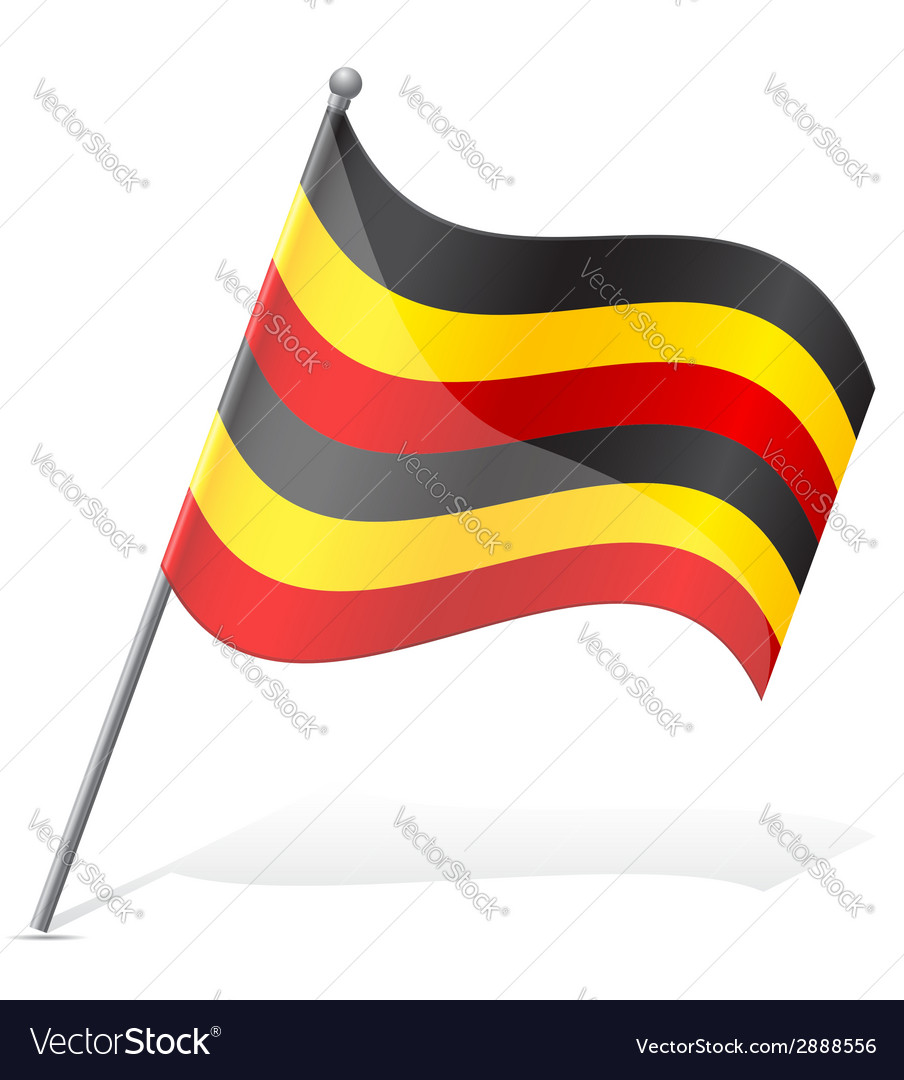 Flag of uganda vector | Price: 1 Credit (USD $1)