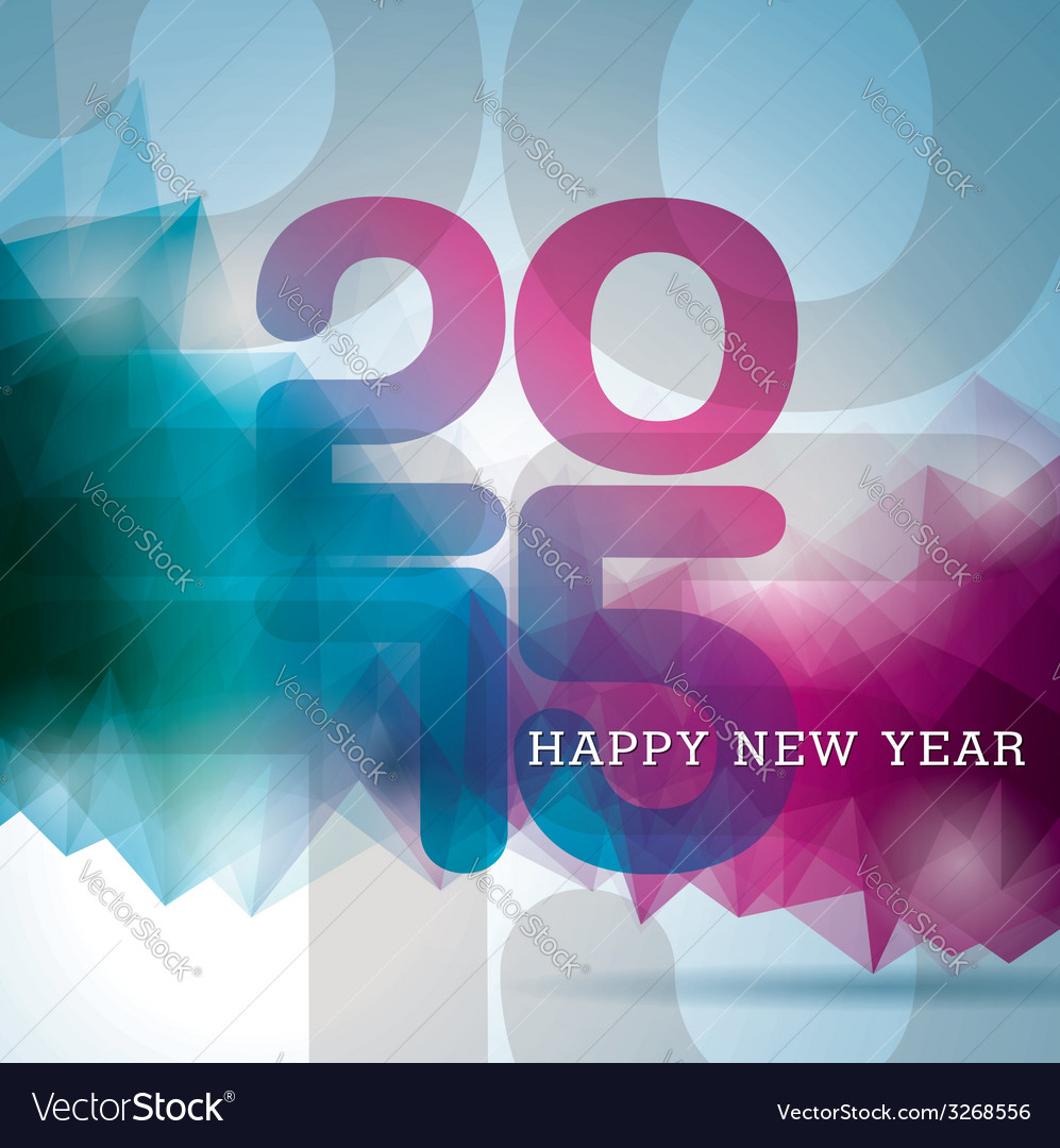 Happy new year 2015 colorful celebration backgroun vector | Price: 1 Credit (USD $1)