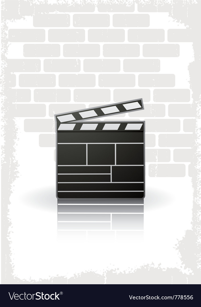 Movie clapboard vector | Price: 1 Credit (USD $1)