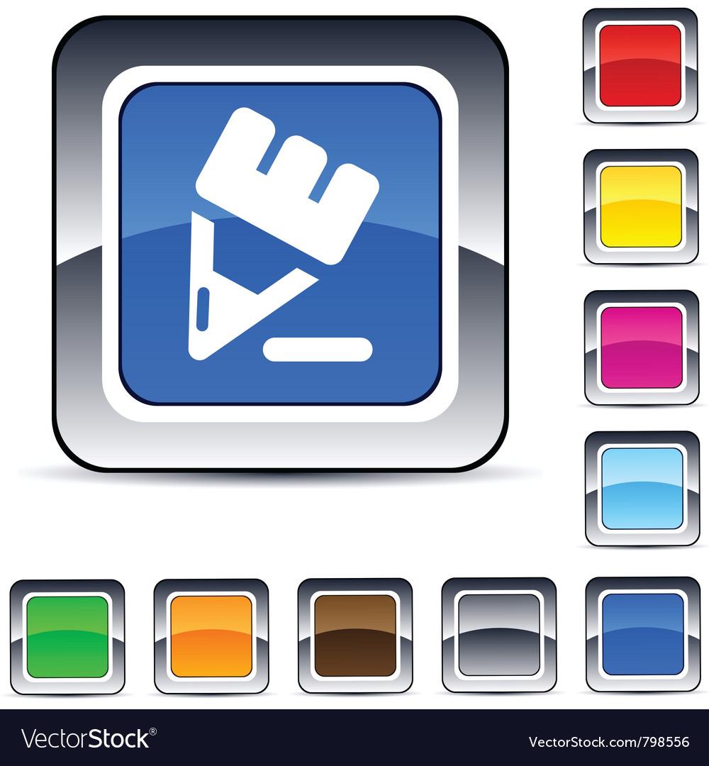 Pencil square button vector | Price: 1 Credit (USD $1)