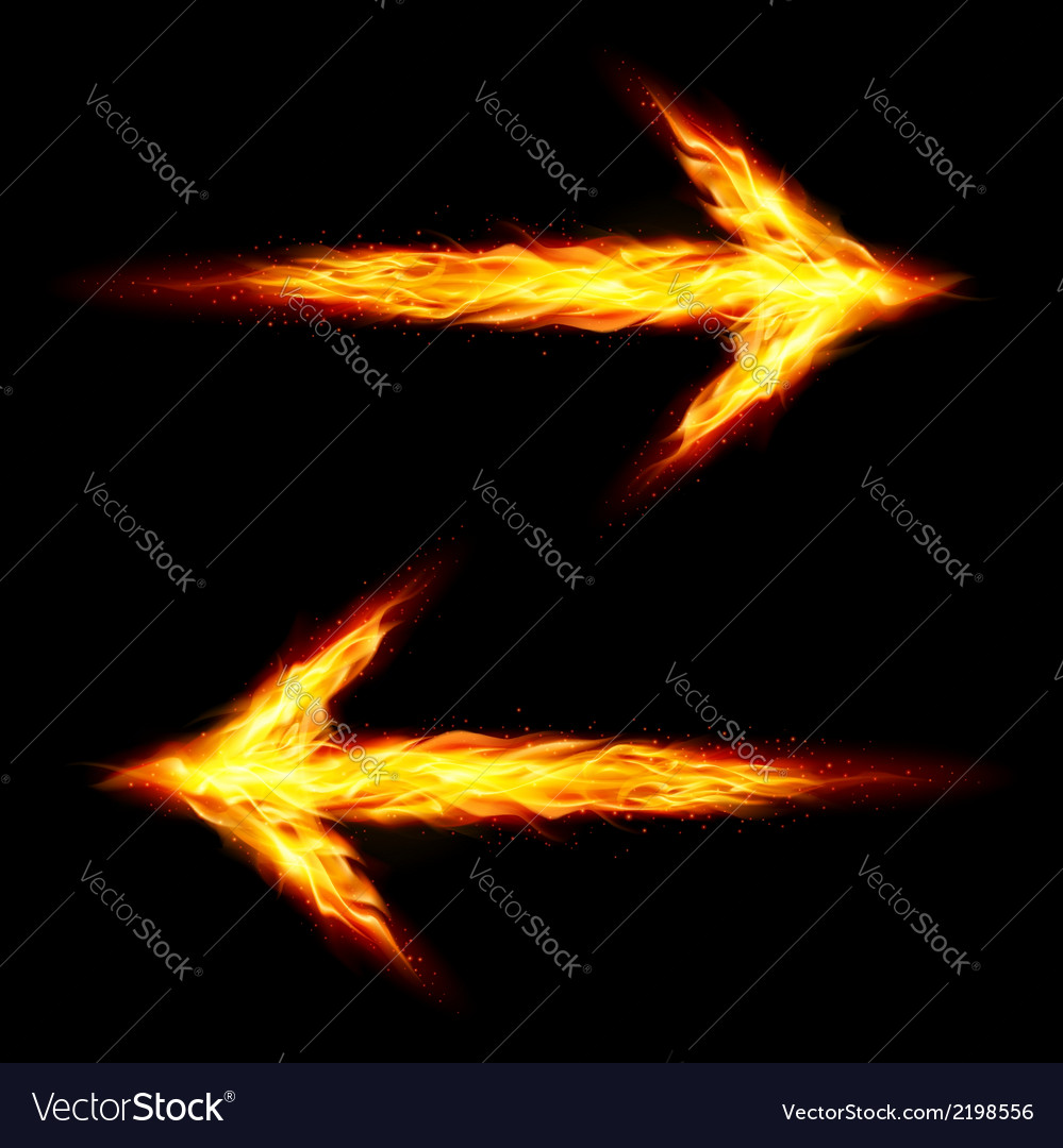 Two fire arrows vector | Price: 1 Credit (USD $1)
