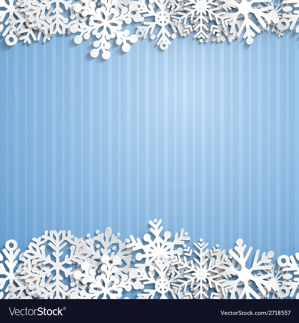 Christmas background of snowflakes vector | Price: 1 Credit (USD $1)