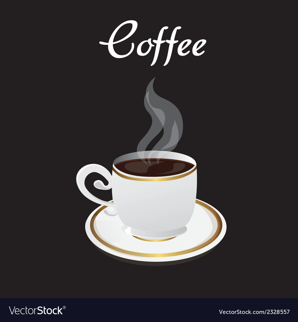Coffee cup over black background vector | Price: 1 Credit (USD $1)