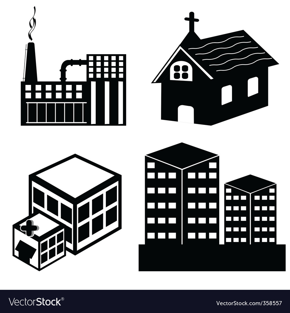 Different building vector | Price: 1 Credit (USD $1)