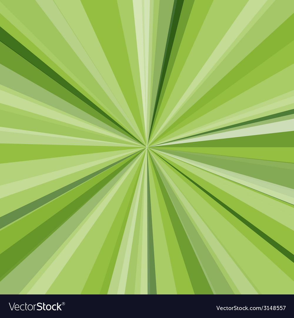 Green rays background for your bright beams design vector | Price: 1 Credit (USD $1)