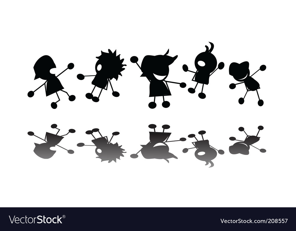 Jumping kids vector | Price: 1 Credit (USD $1)