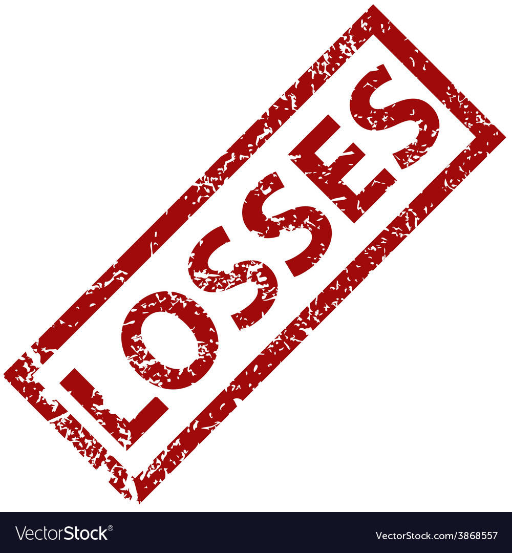 Losses rubber stamp vector | Price: 1 Credit (USD $1)