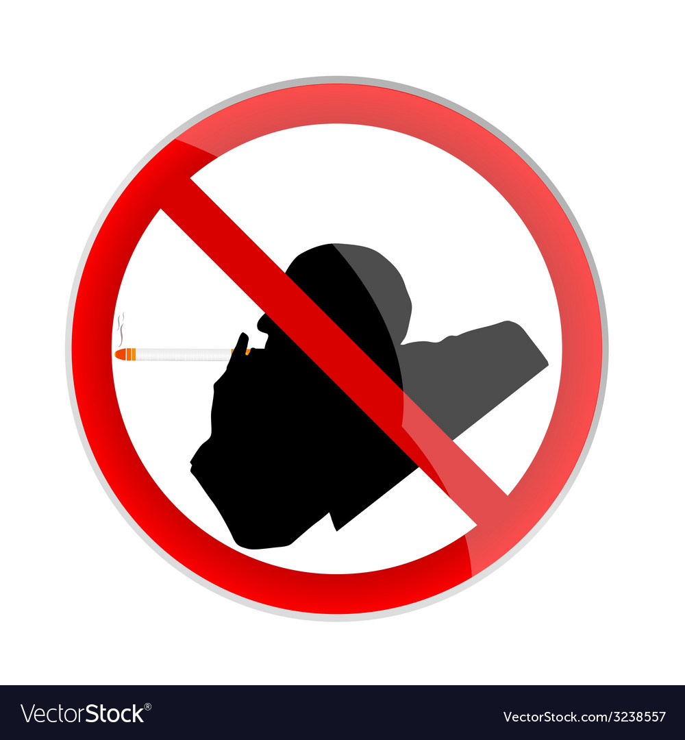 No smoking sign with man vector | Price: 1 Credit (USD $1)