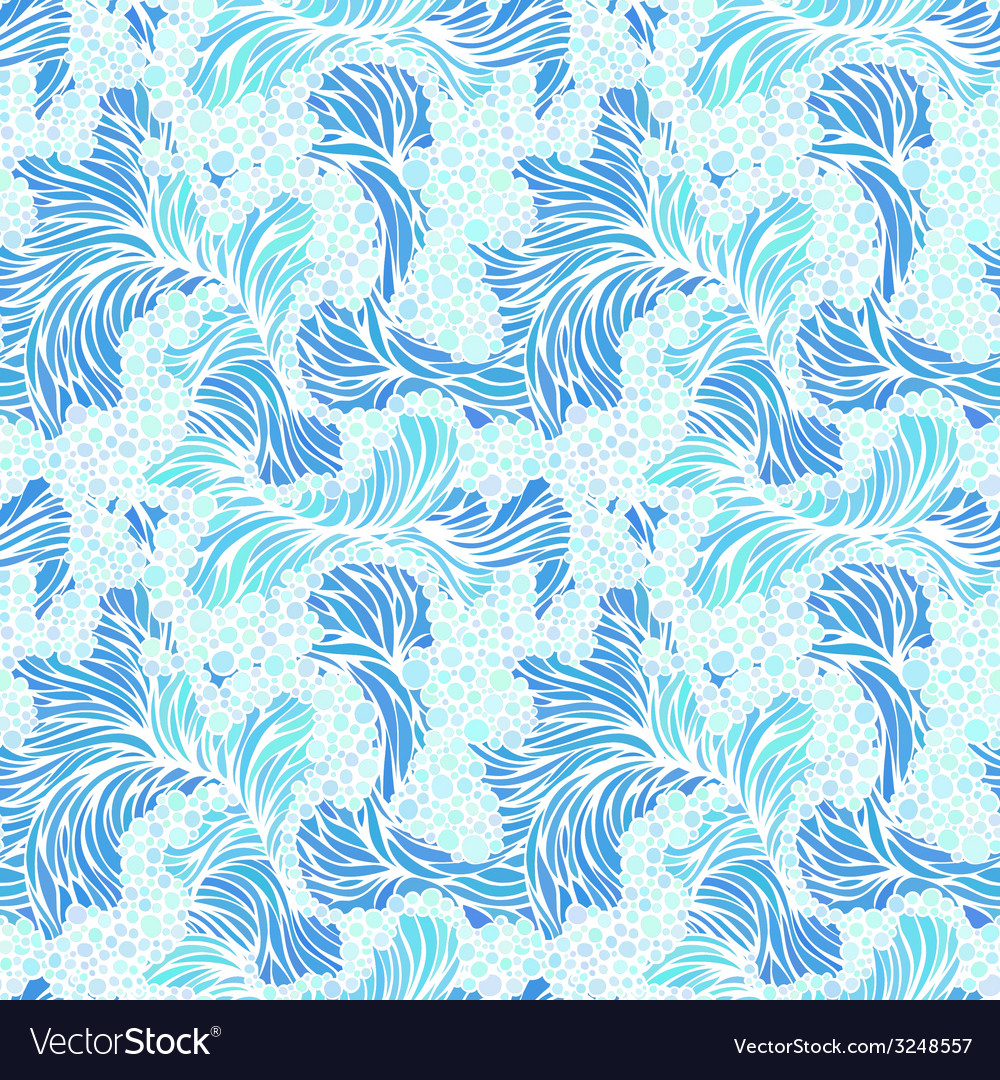 Seamless pattern of waves vector | Price: 1 Credit (USD $1)
