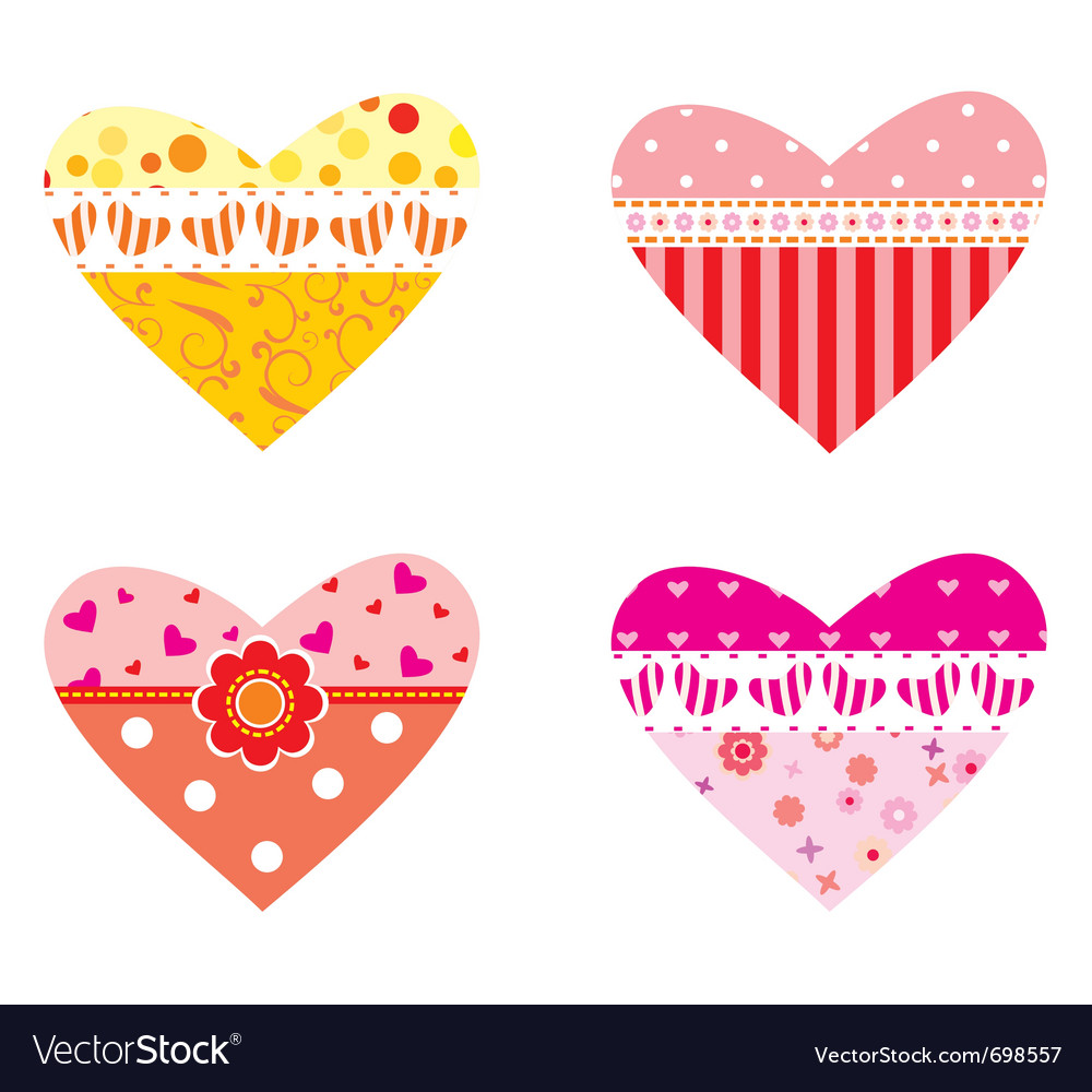 Valentines hearts vector | Price: 1 Credit (USD $1)