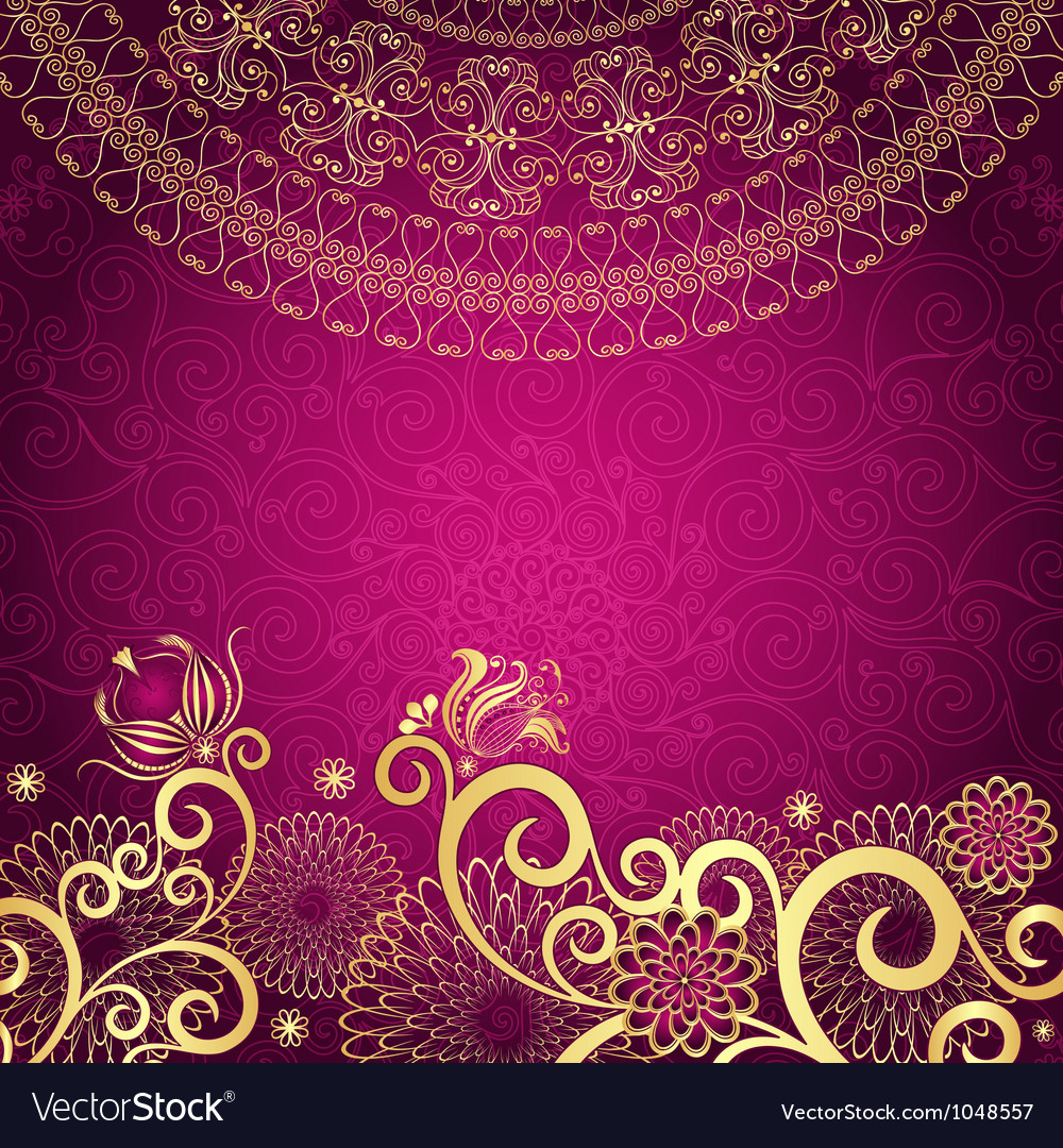 Vintage purple frame vector | Price: 1 Credit (USD $1)