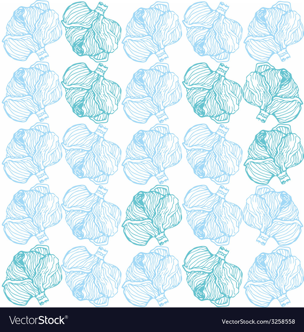 Cabbage pattern vector | Price: 1 Credit (USD $1)