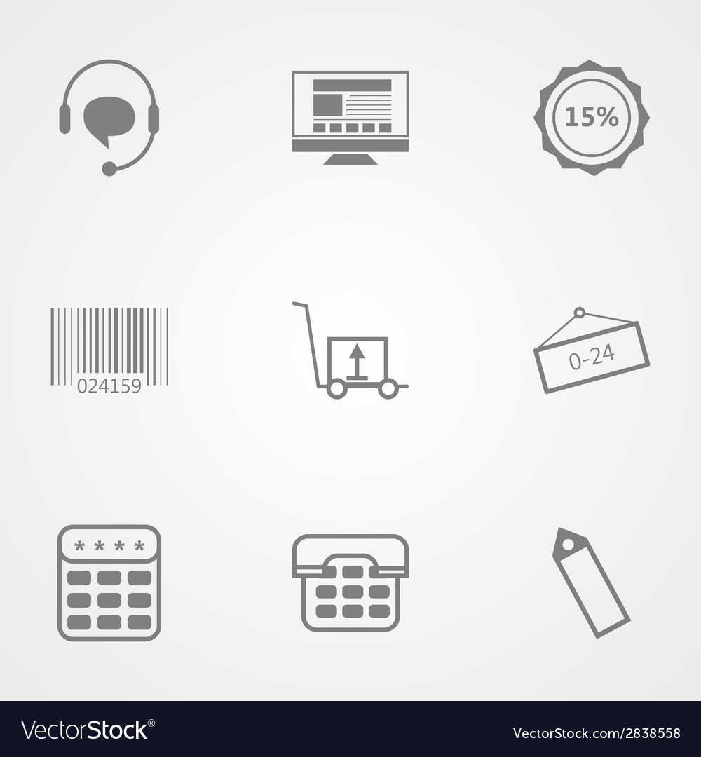 Contour icons for online store vector | Price: 1 Credit (USD $1)