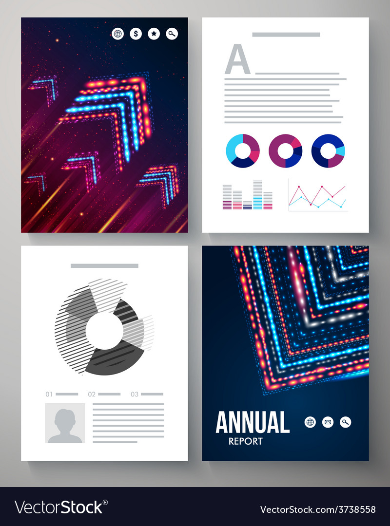 Dynamic template for an annual report vector | Price: 1 Credit (USD $1)
