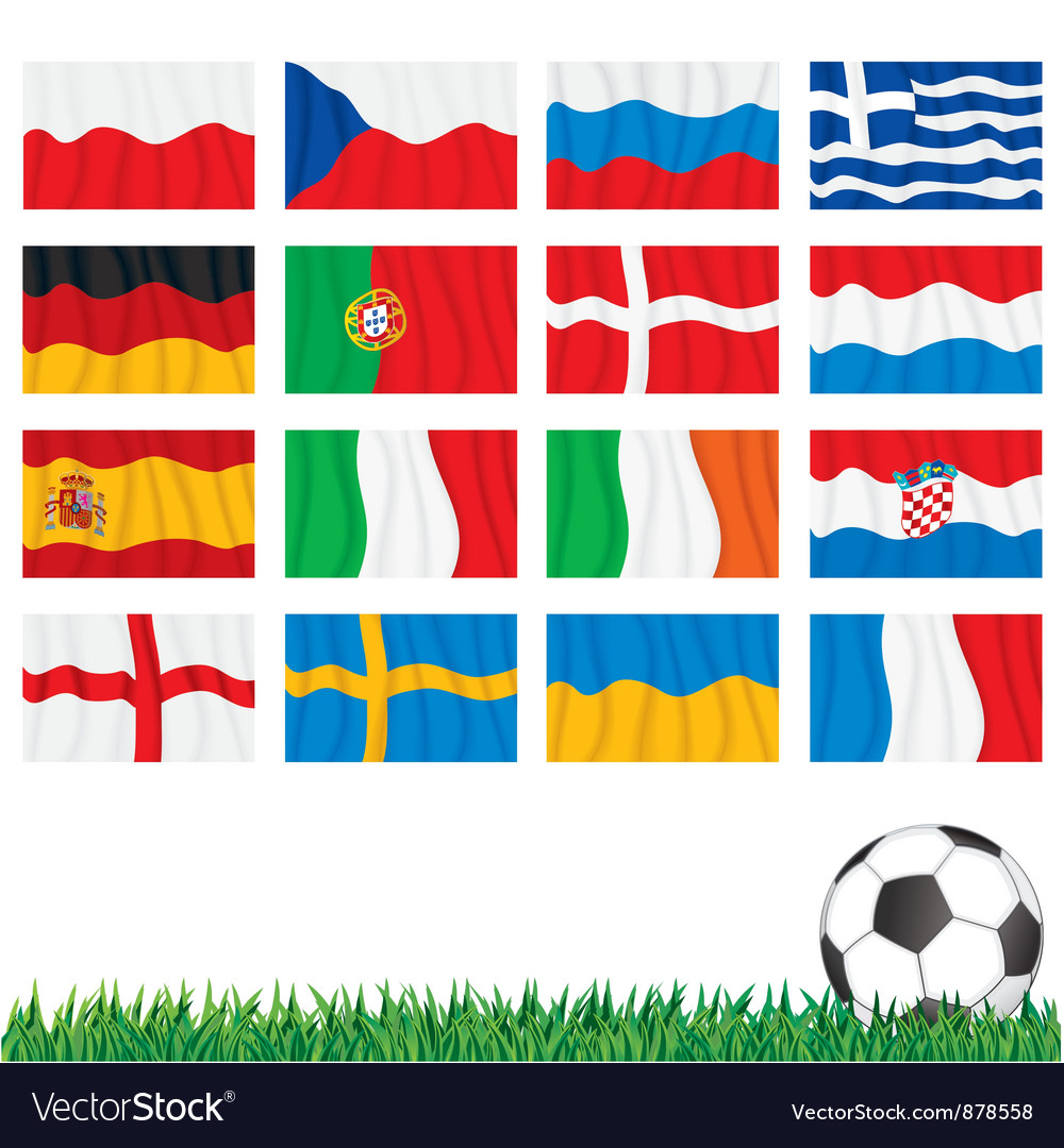 Euro 2012 flags vector | Price: 1 Credit (USD $1)