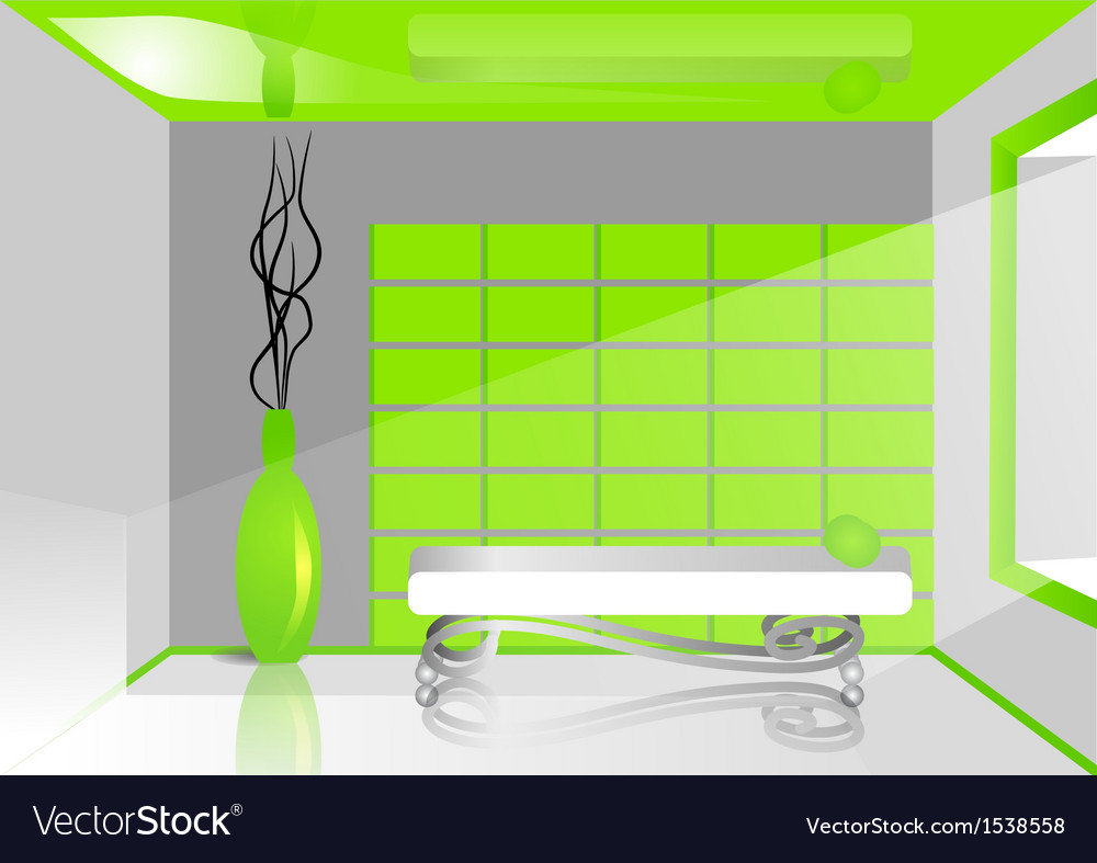 Green room vector | Price: 1 Credit (USD $1)