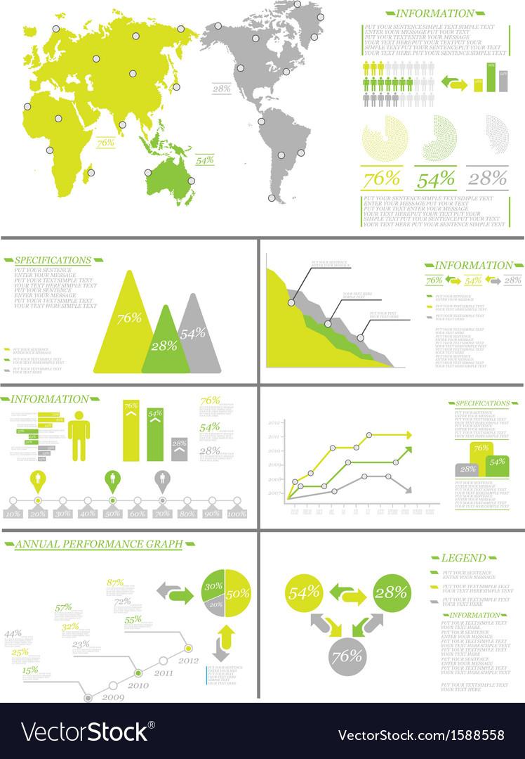 Infographic demographics 8 yellow vector | Price: 1 Credit (USD $1)