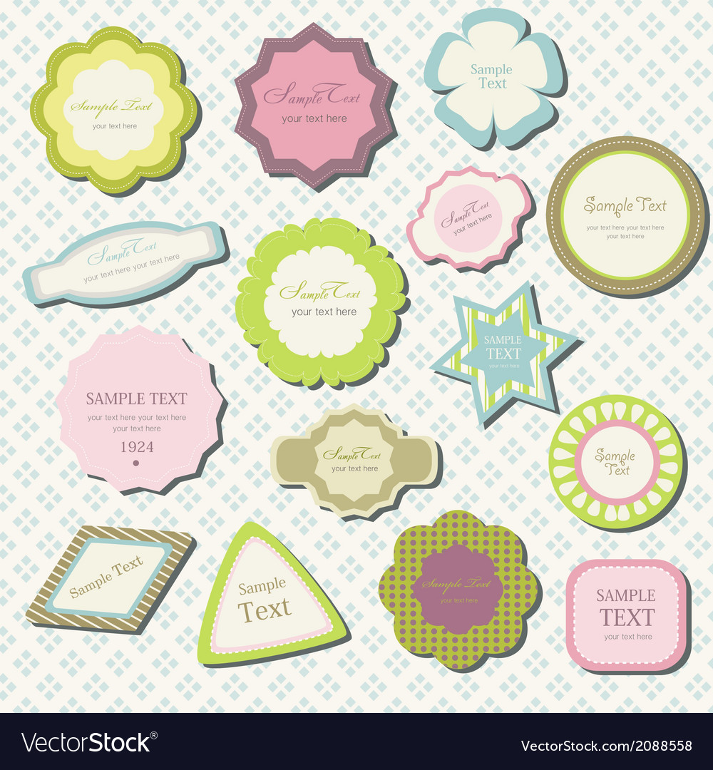 Label vintage set vector | Price: 1 Credit (USD $1)