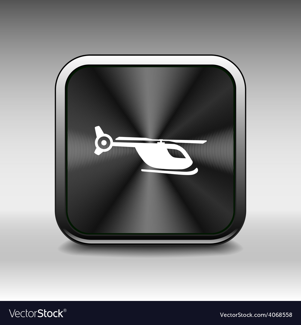 Map marker with icon of a helicopter eps10 vector | Price: 1 Credit (USD $1)
