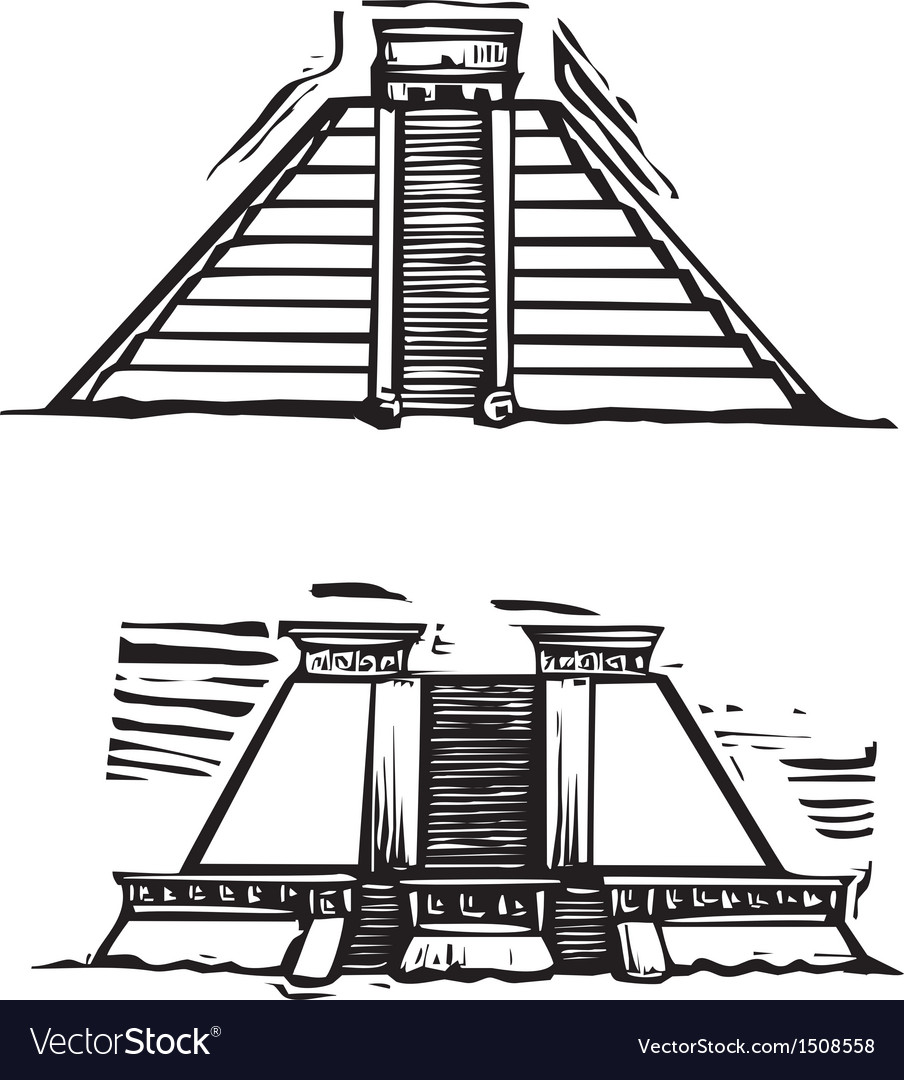 Mayan pyramids vector | Price: 1 Credit (USD $1)
