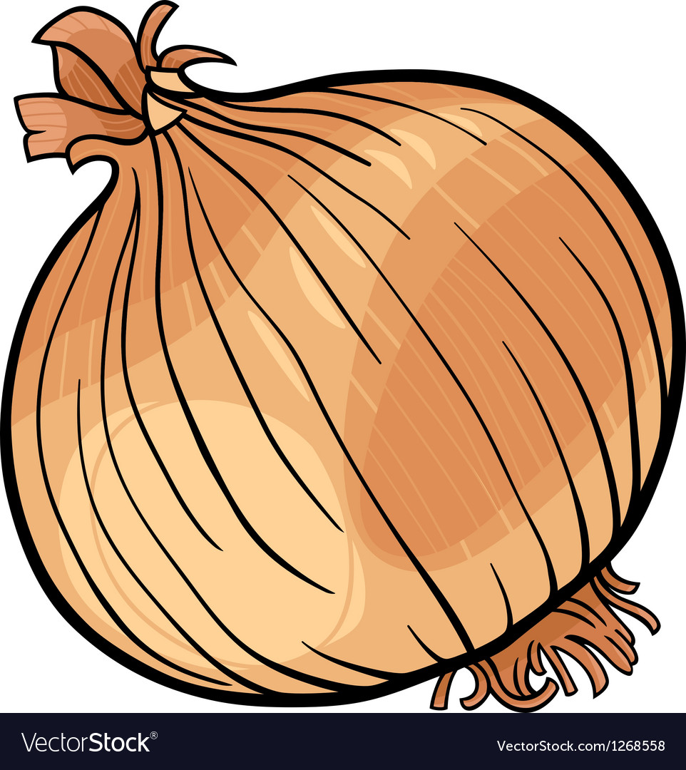Onion vegetable cartoon vector | Price: 1 Credit (USD $1)