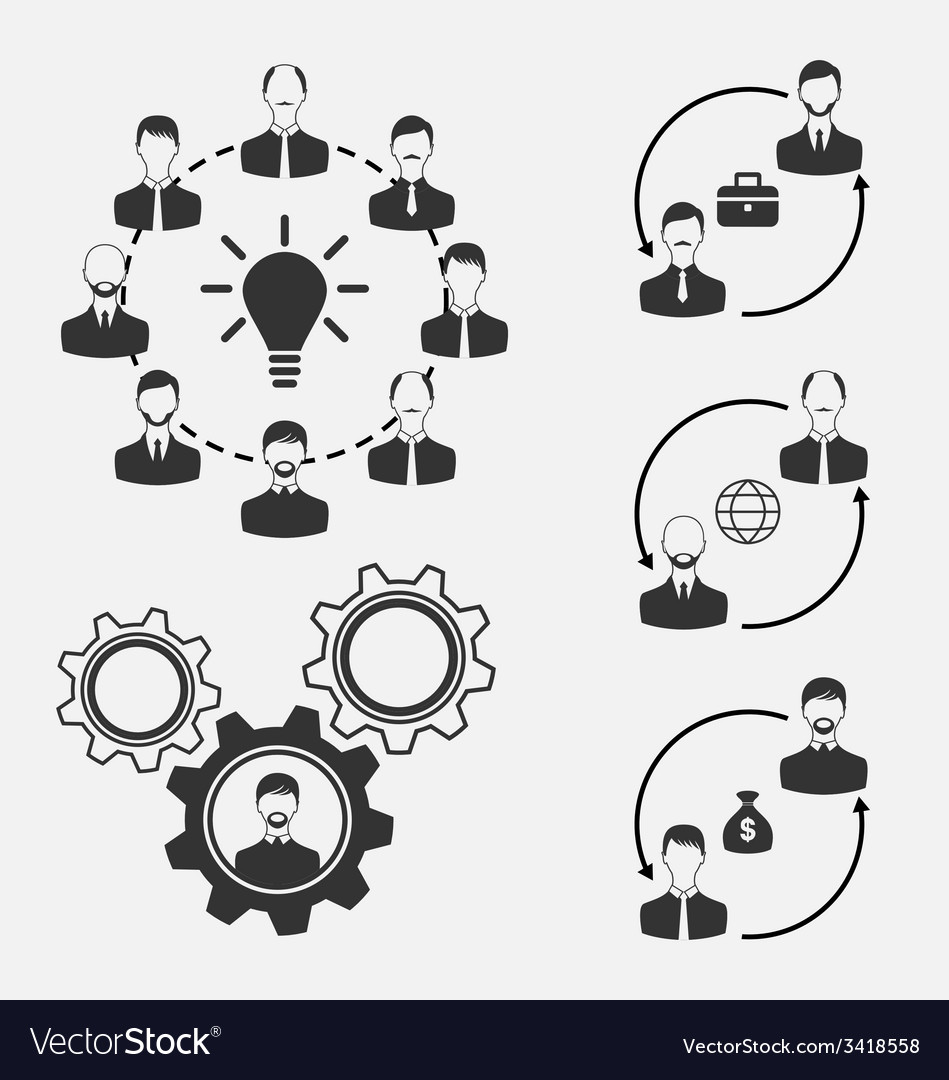 Set of business people concept of effective vector | Price: 1 Credit (USD $1)