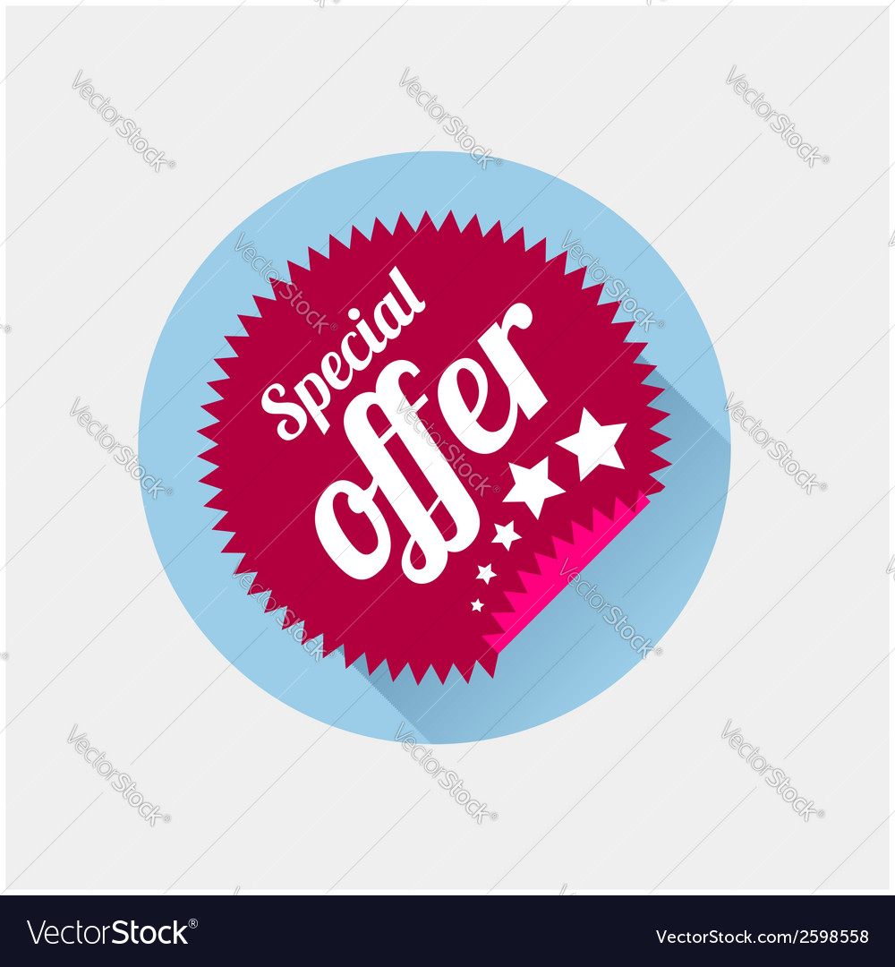 Sticker in flat style vector | Price: 1 Credit (USD $1)