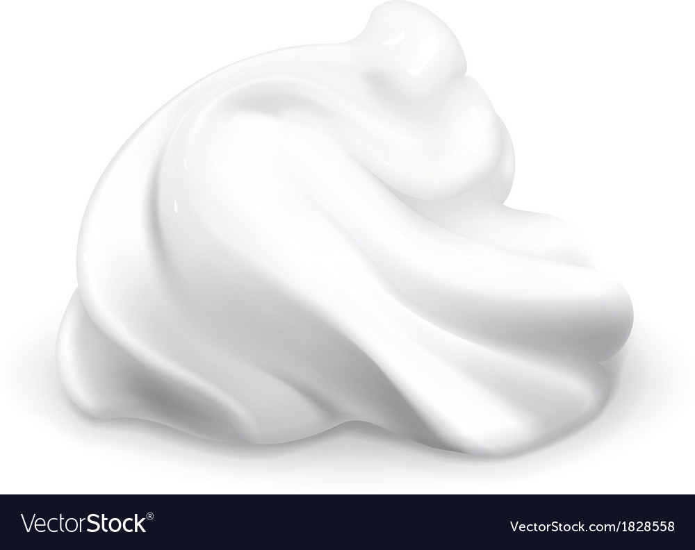 Whipped cream vector | Price: 1 Credit (USD $1)