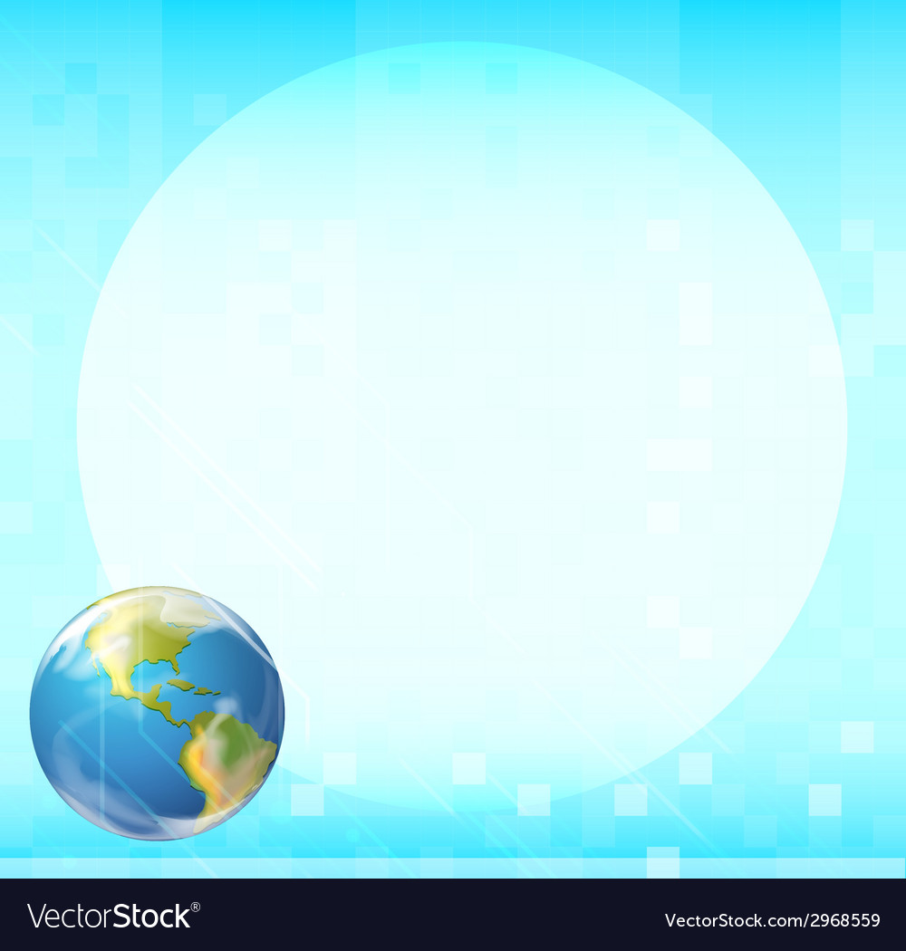 A template with a globe vector | Price: 1 Credit (USD $1)