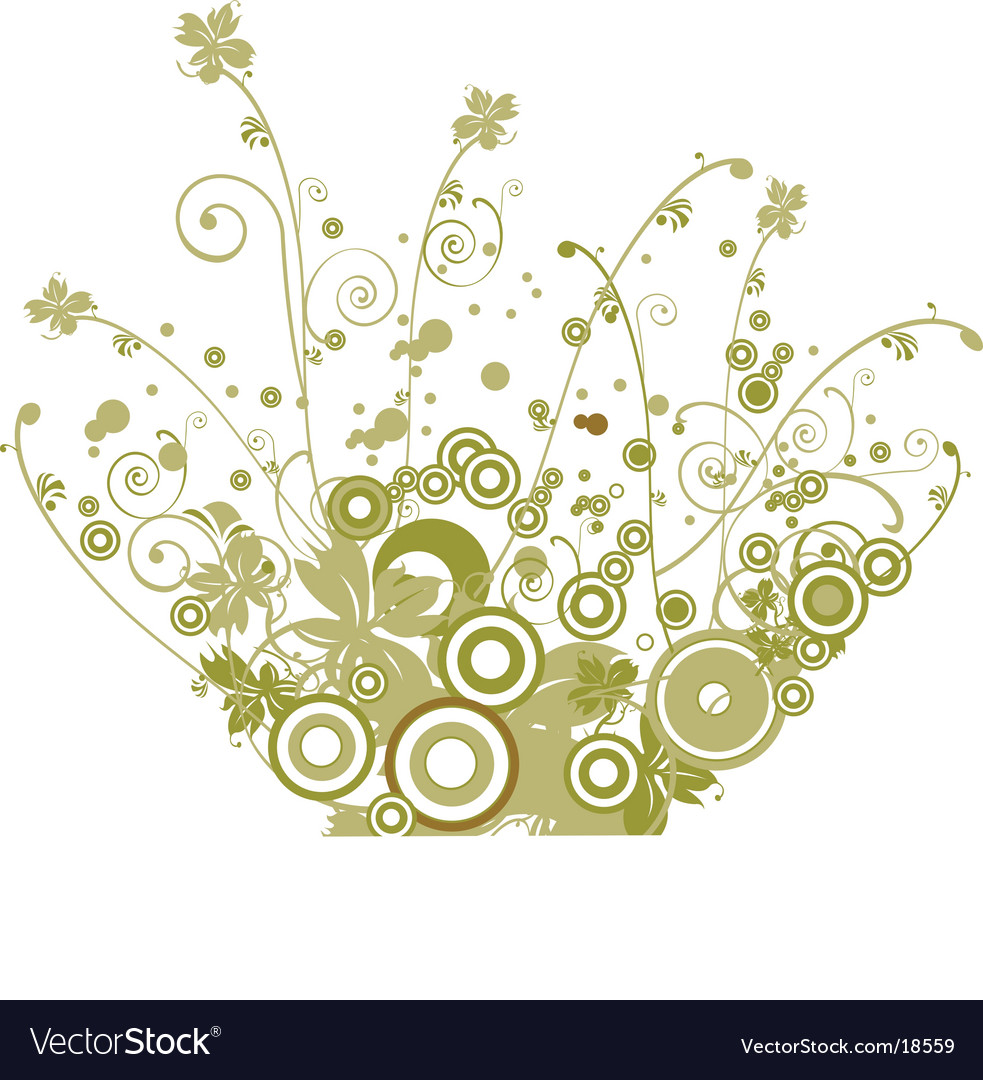 Nature floral design vector | Price: 1 Credit (USD $1)