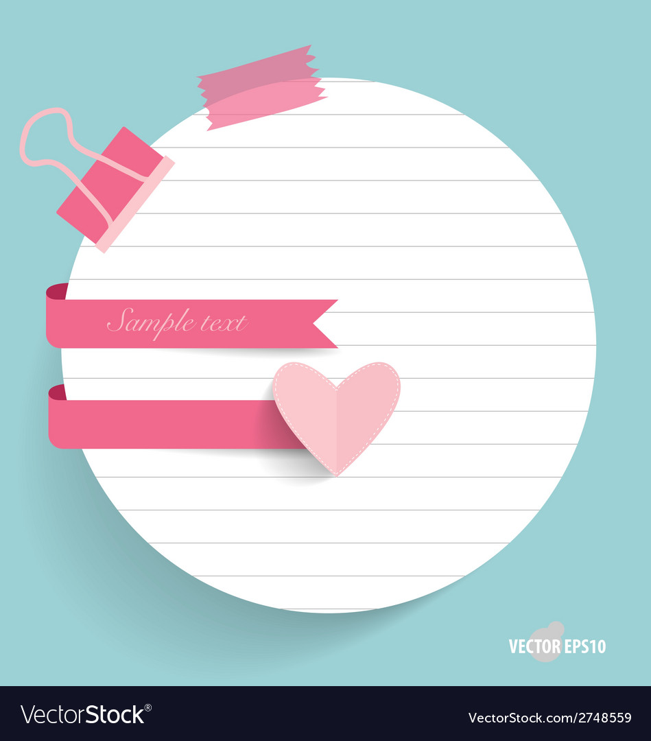 Note papers with cute ribbons ready for your vector | Price: 1 Credit (USD $1)