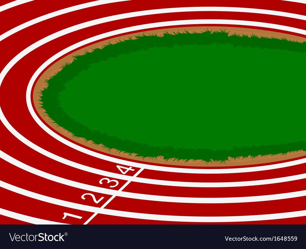 Racetrack cartoon scene background vector | Price: 1 Credit (USD $1)