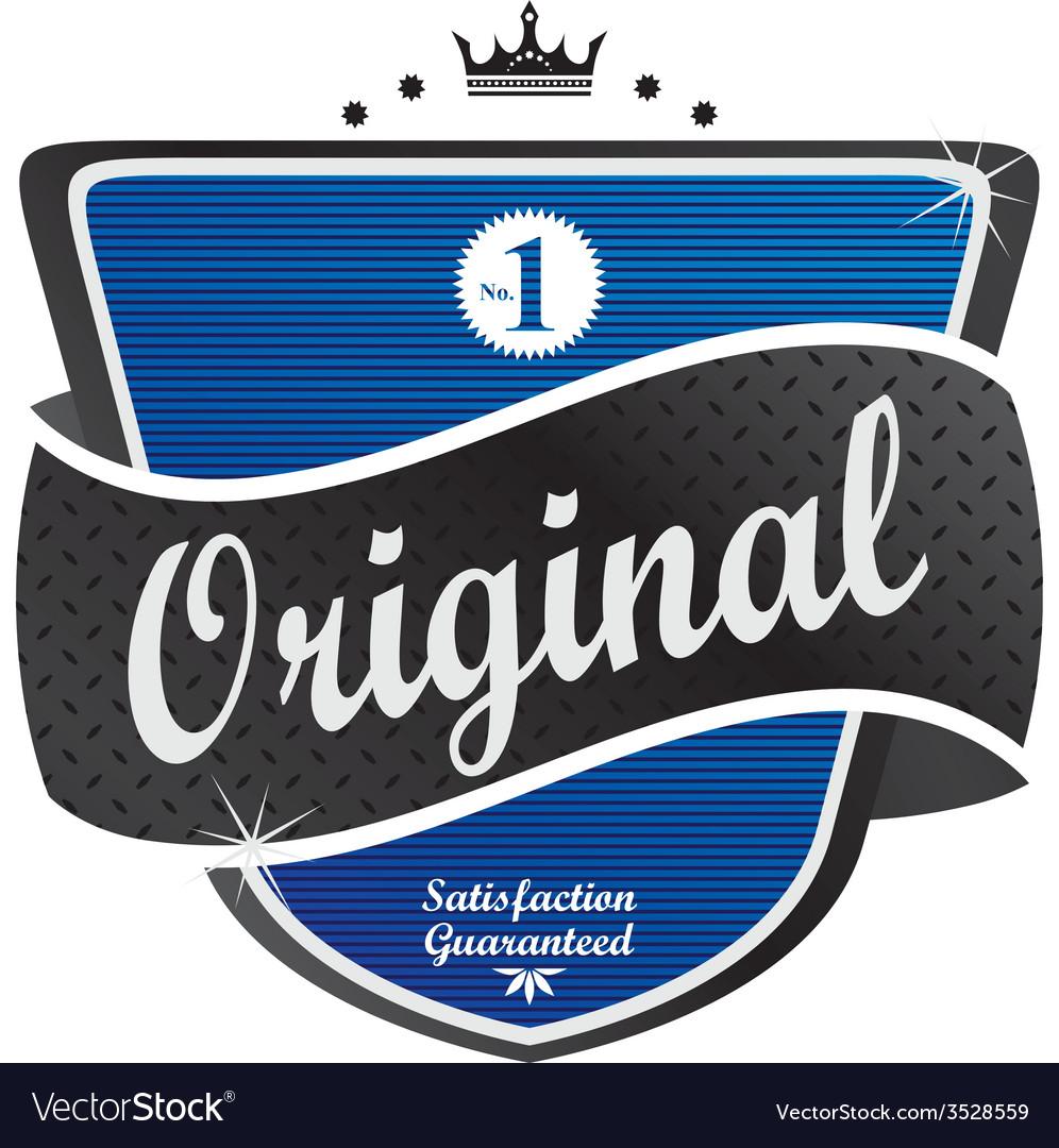 Retro label sticker vector   Price: 1 Credit (USD $1)