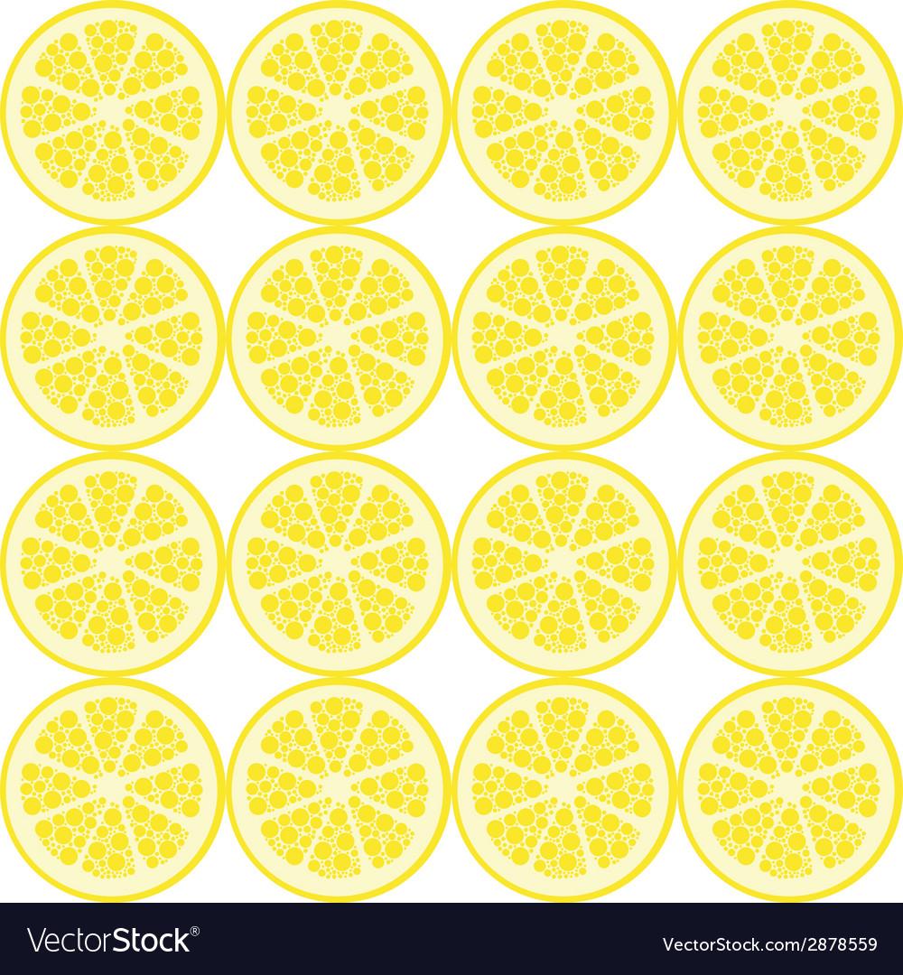 Seamless lemon pattern vector | Price: 1 Credit (USD $1)