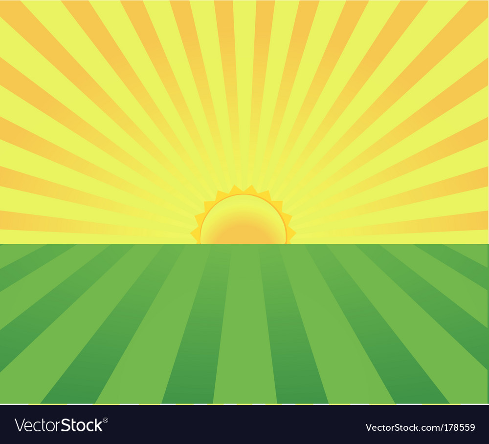 Summer sunrise vector | Price: 1 Credit (USD $1)