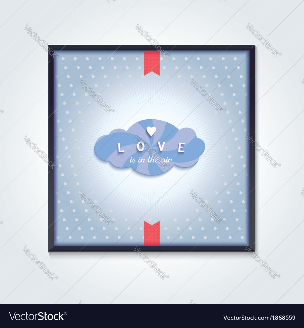 Volumetric cloud with pattern and inscription vector | Price: 1 Credit (USD $1)