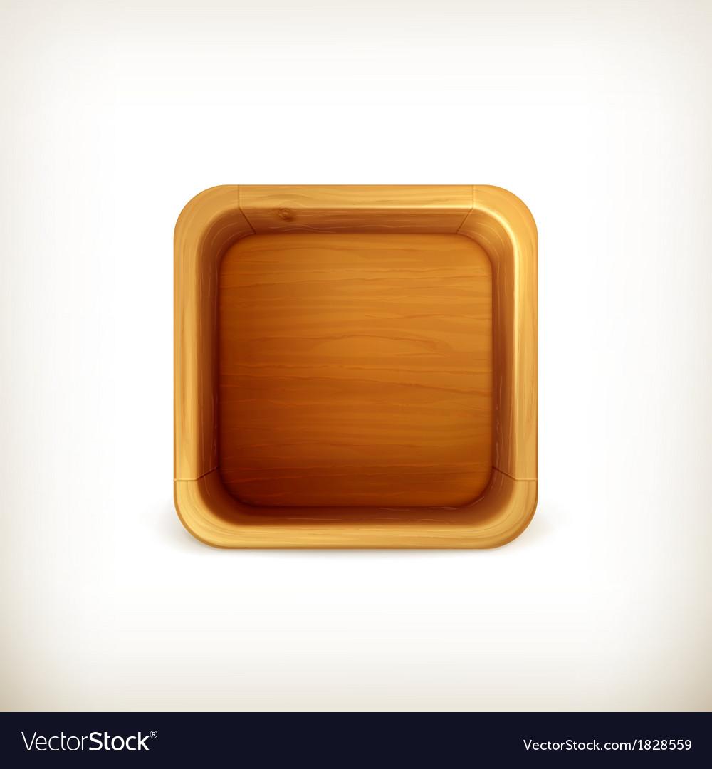 Wooden box app icon vector   Price: 1 Credit (USD $1)