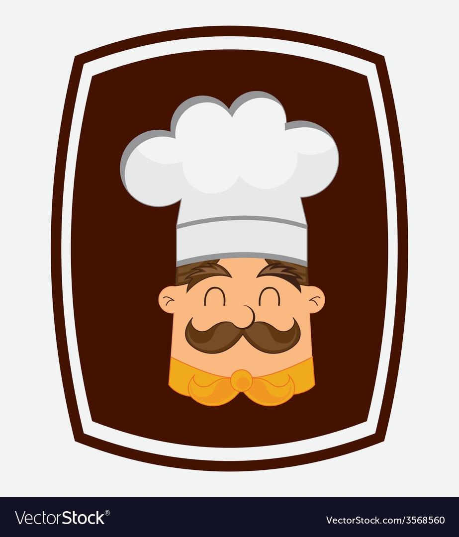 Chef head vector | Price: 1 Credit (USD $1)