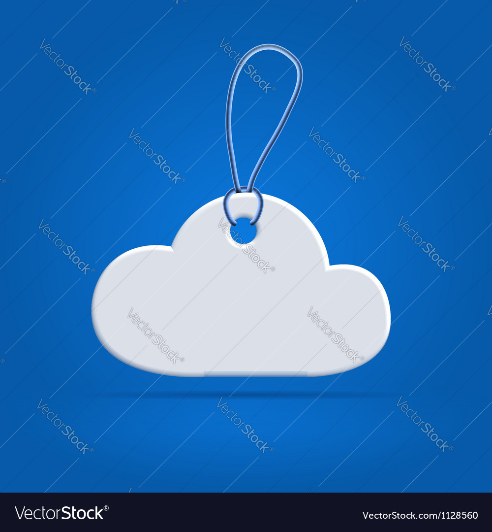 Cloud shaped tag label vector | Price:  Credit (USD $)