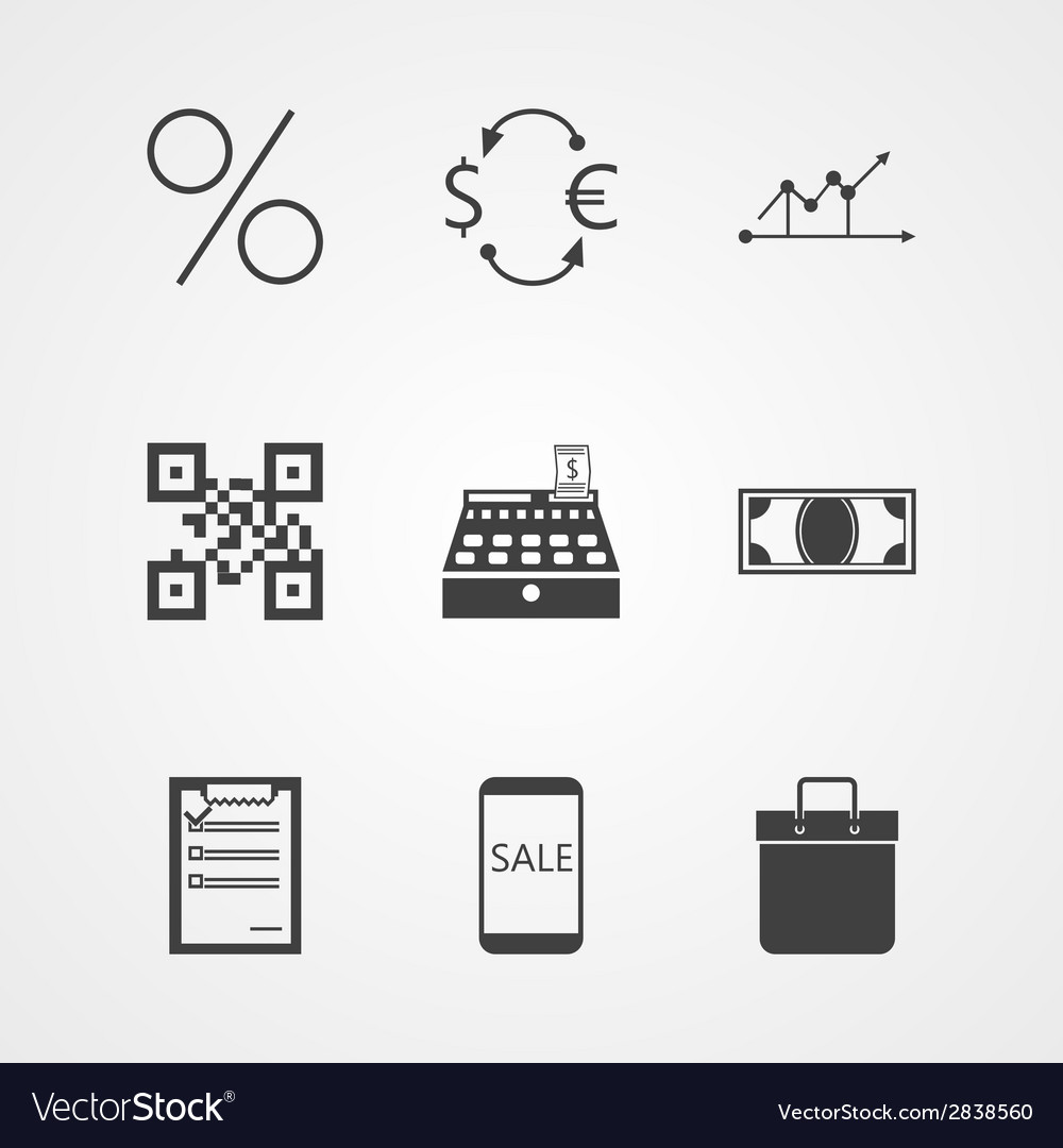 Contour icons for internet moneymaking vector | Price: 1 Credit (USD $1)