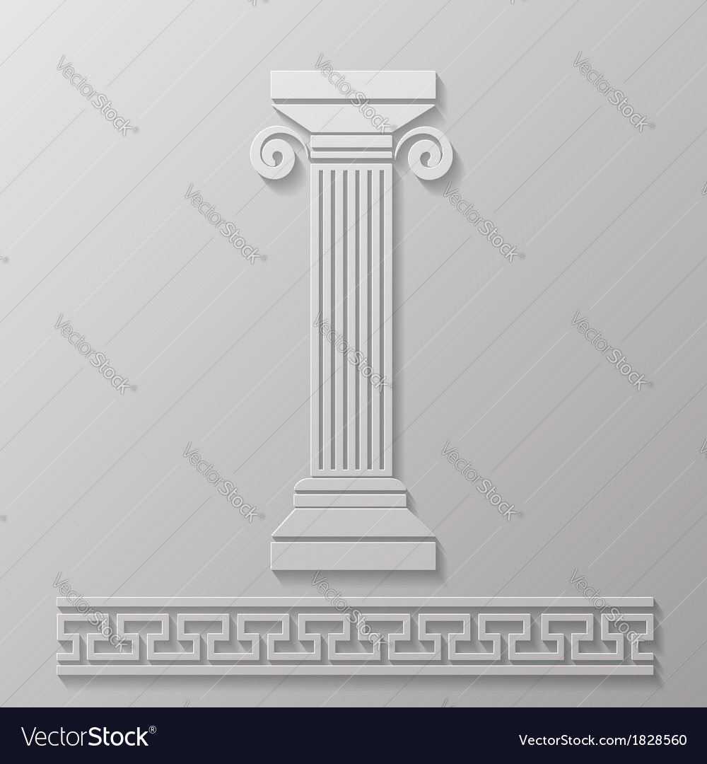 Gray column vector | Price: 1 Credit (USD $1)