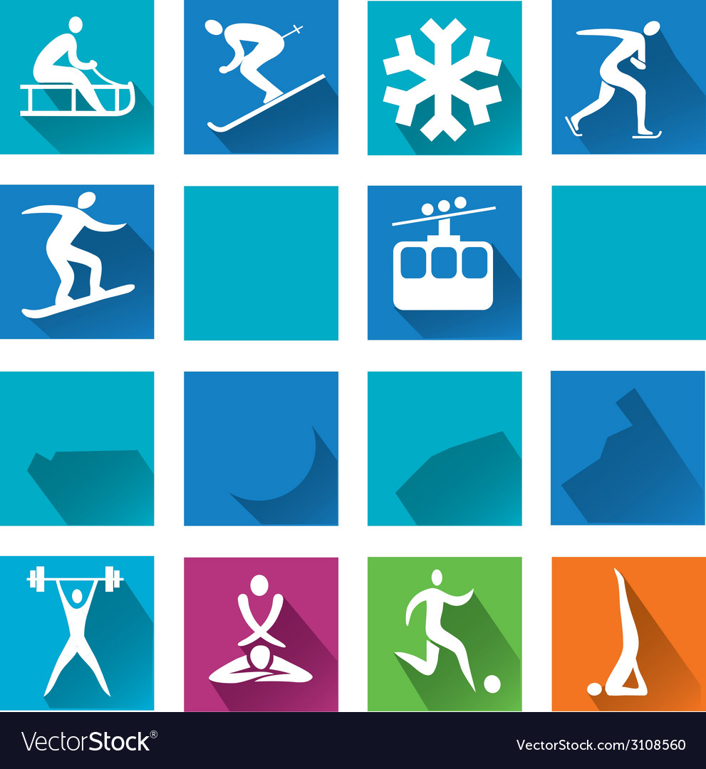 Sport colorful icons vector | Price: 3 Credit (USD $3)