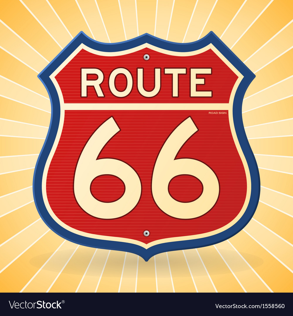 Vintage route 66 symbol vector | Price: 1 Credit (USD $1)