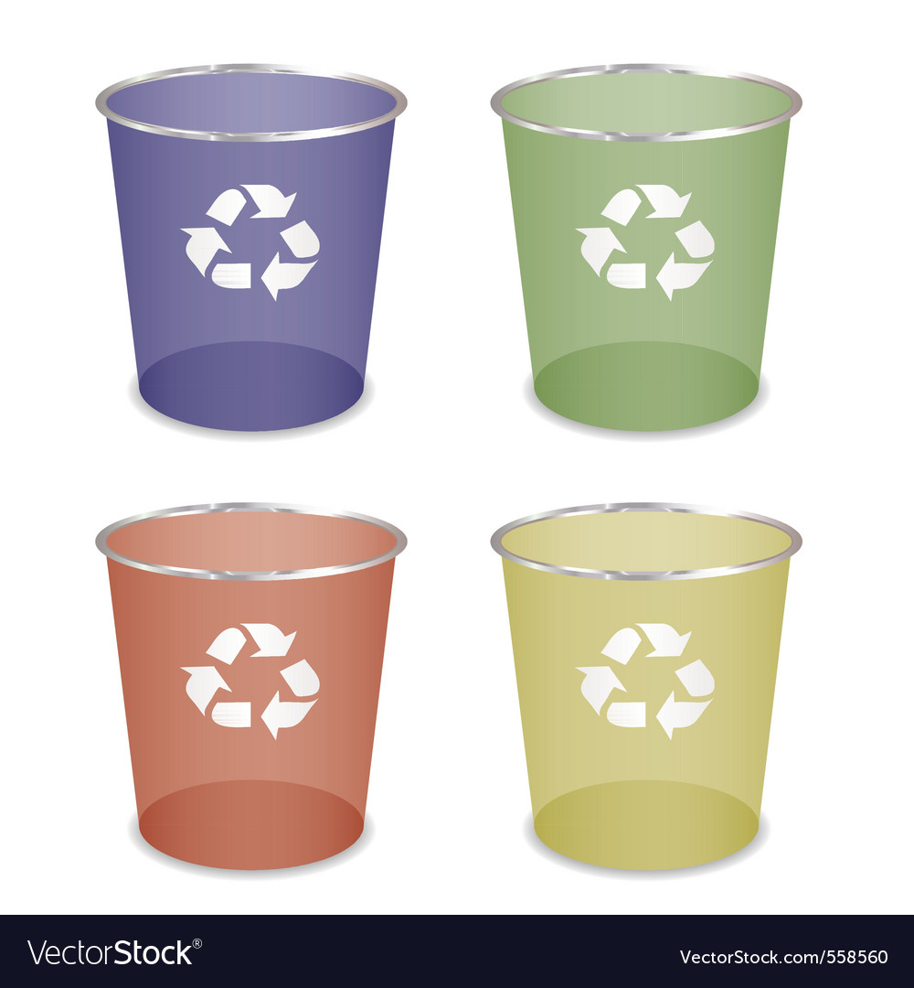 Waste bin vector | Price: 1 Credit (USD $1)